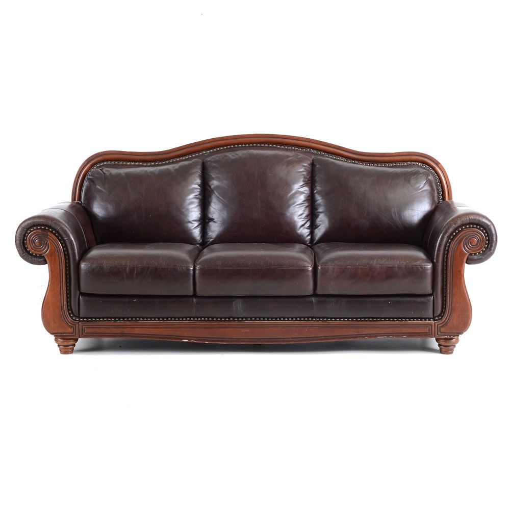Leather Serpentine Sofa