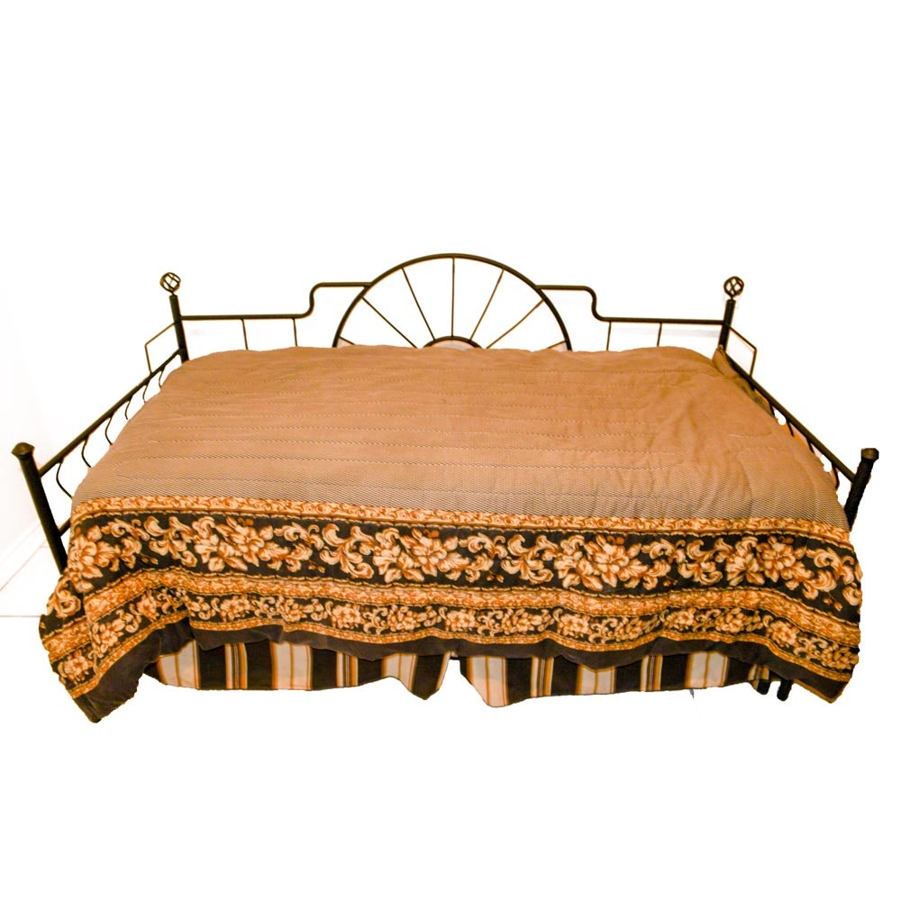 Twin Daybed with Wrought Iron Frame
