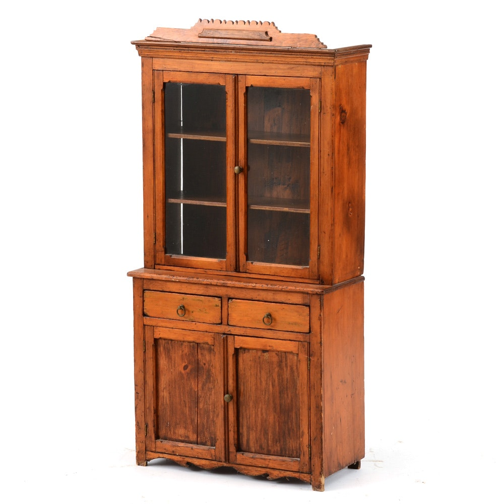 Antique Child Size China Cabinet