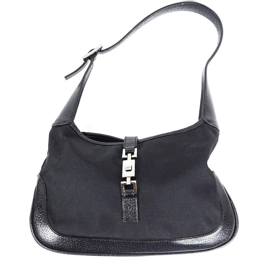 14630779f55 Gucci Black Jackie O Small Hobo Bag   EBTH