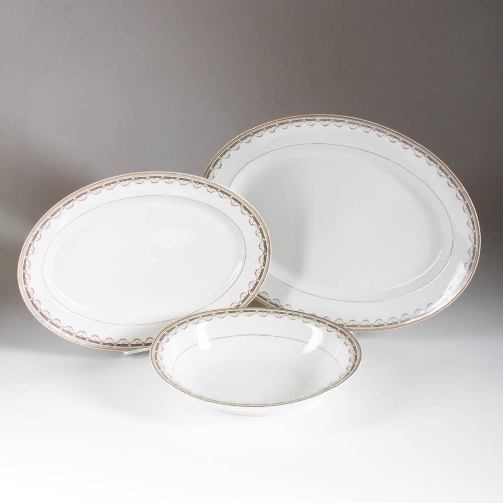 Handpainted Haviland Limoges Serving Plates