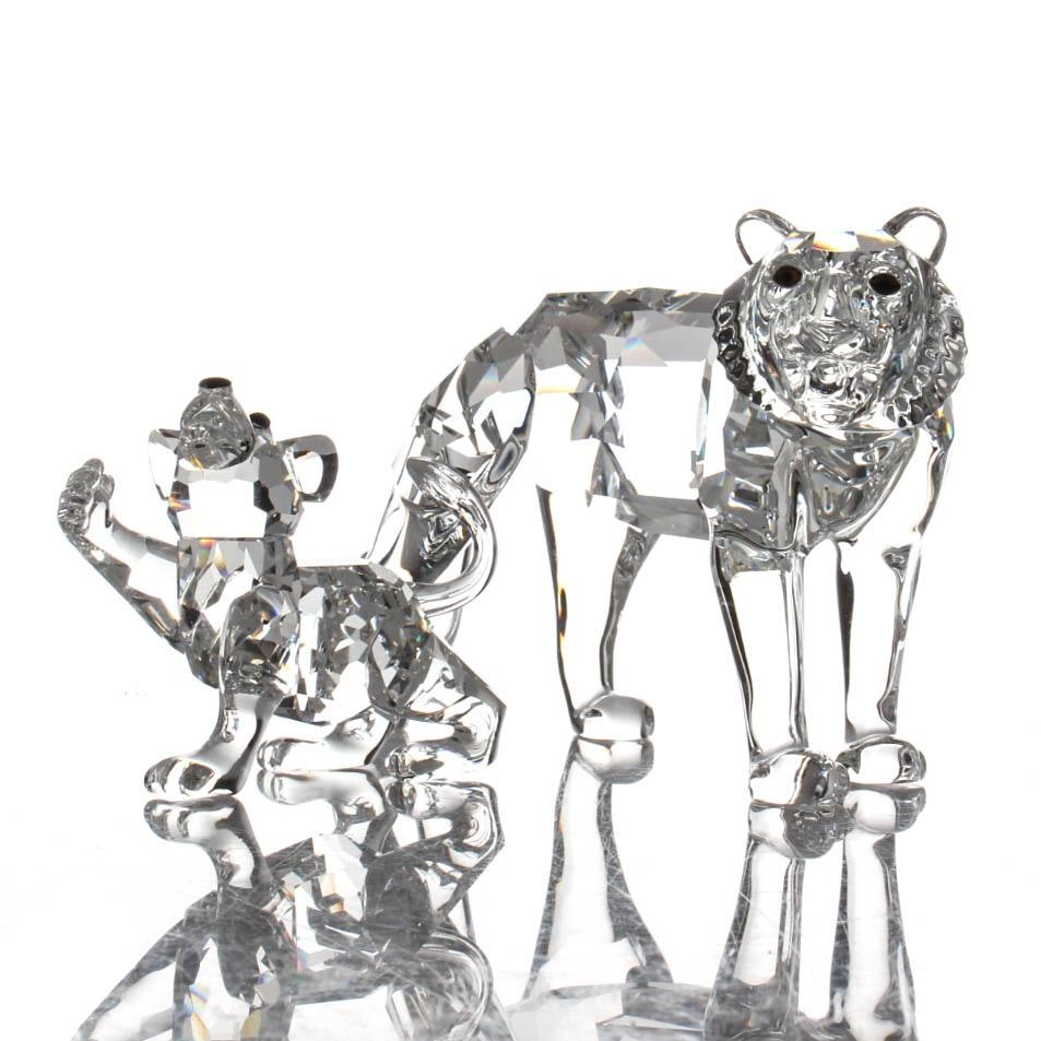 Swarovski Crystal Wild Cat Figurines