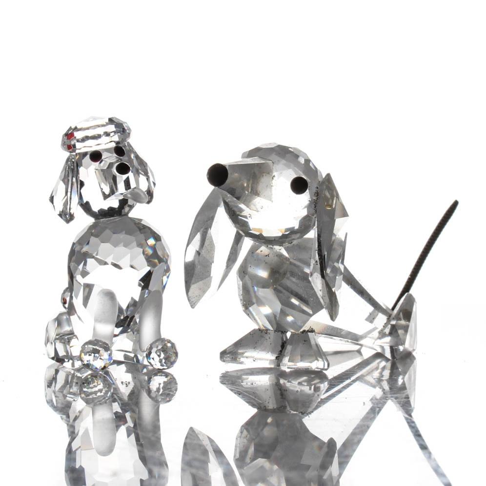 Swarovski Crystal Dog Figurines