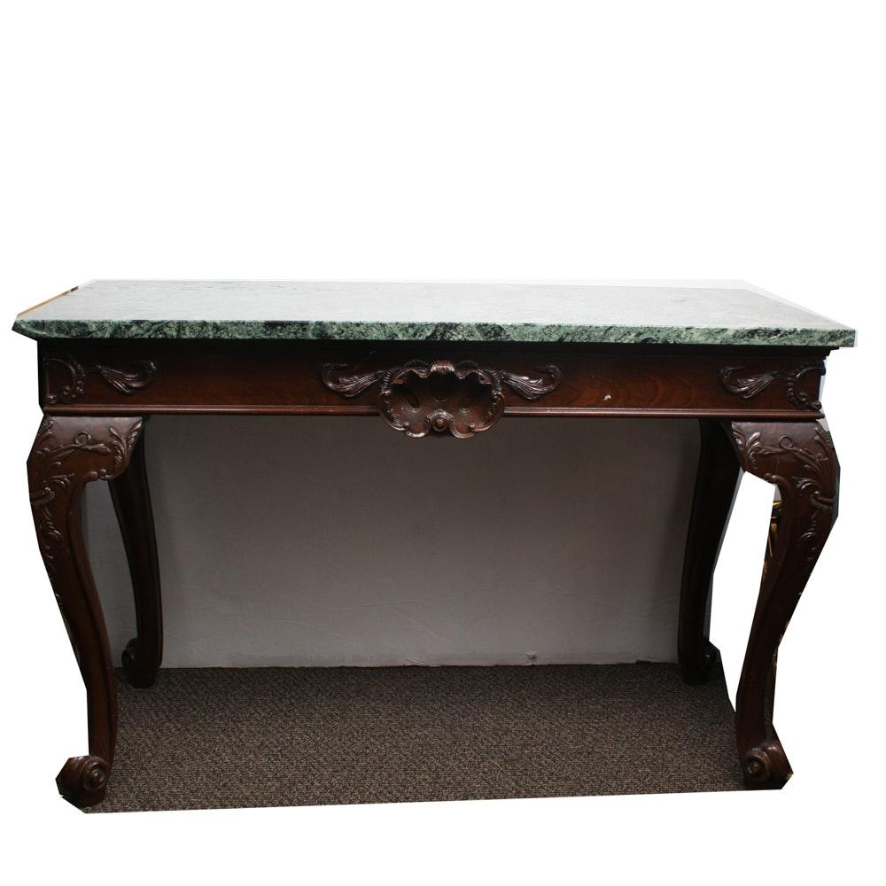 Century Ornate Marble Top Hall Table ...