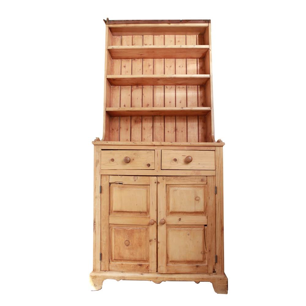 Circa 1850 Lincolnshire Scrubbed Pine Cabinet