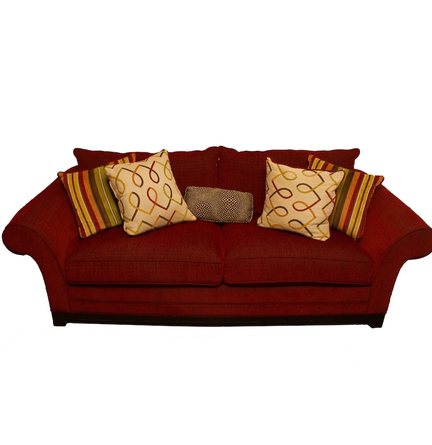 Fantastic Red Sofa By Cindy Crawford Home Evergreenethics Interior Chair Design Evergreenethicsorg