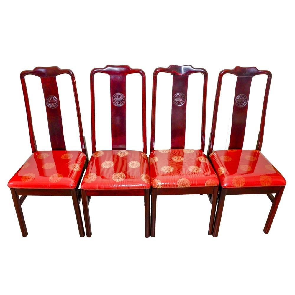 Four Chinese Inspired Dining Chairs