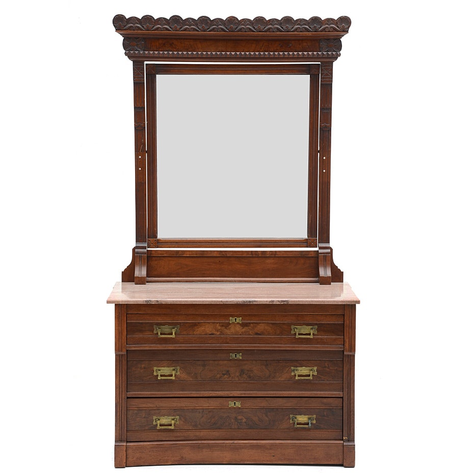 Eastlake Chest of Drawers with Mirror