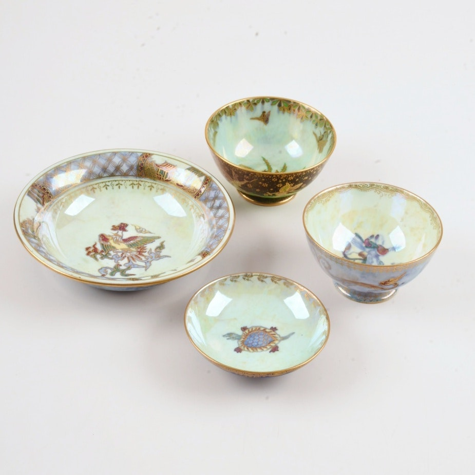 Four Wedgwood Luster Bowls