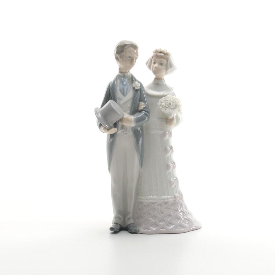 Lladró Bride and Groom Cake Topper Porcelain Figurine : EBTH