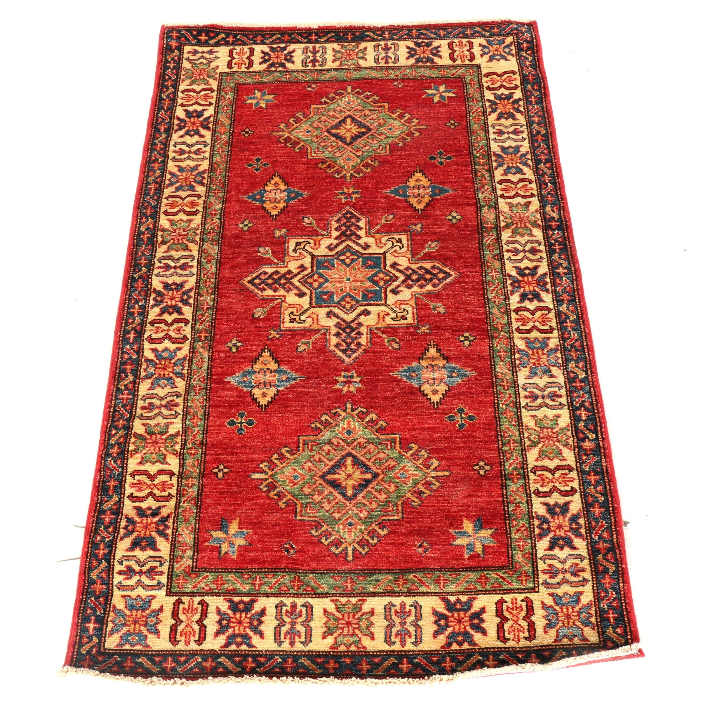 Hand-Knotted Turkish Anatolian Accent Rug