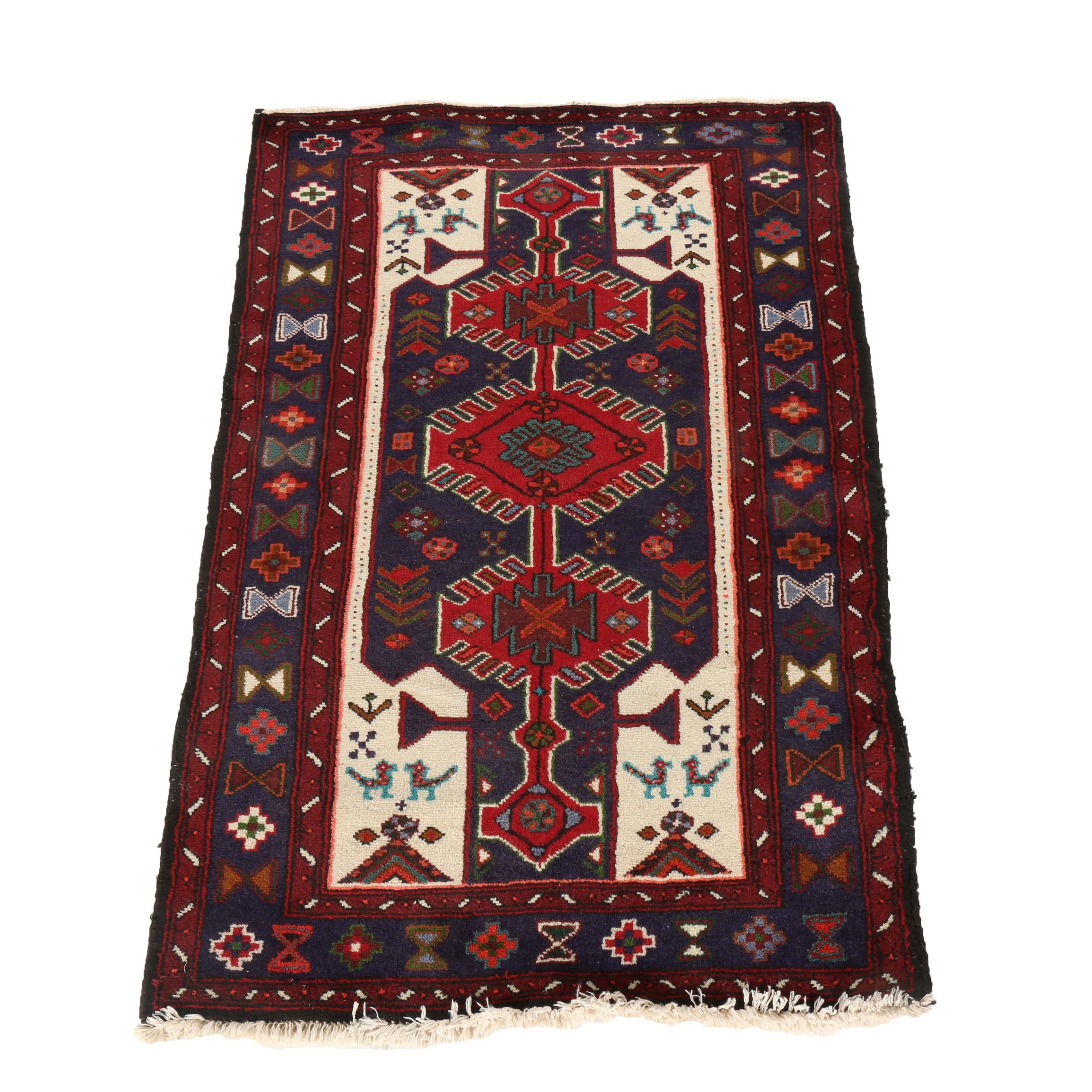 Hand-Knotted Shahsavan Accent Rug