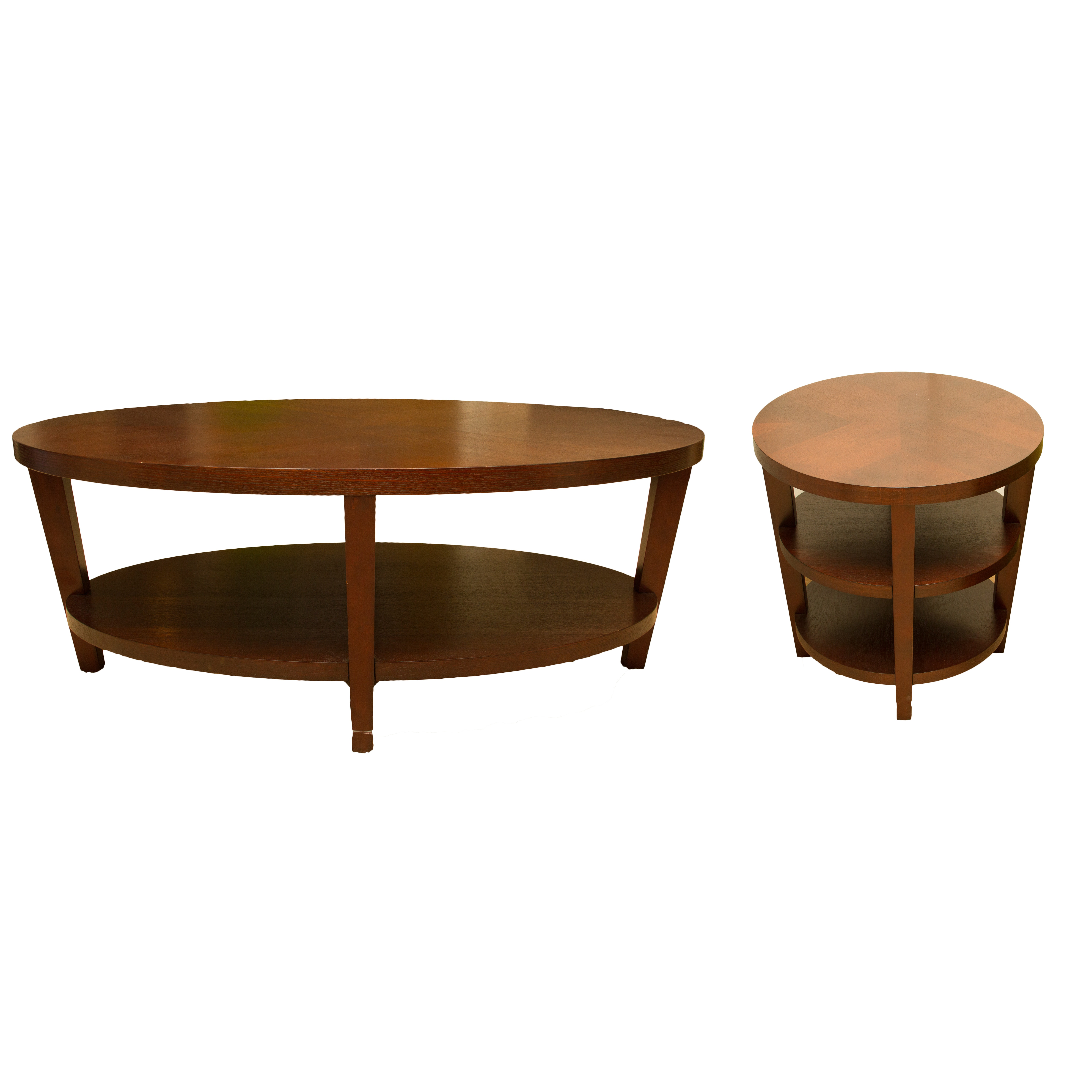 Oak Coffee Table And Two Side Tables ...