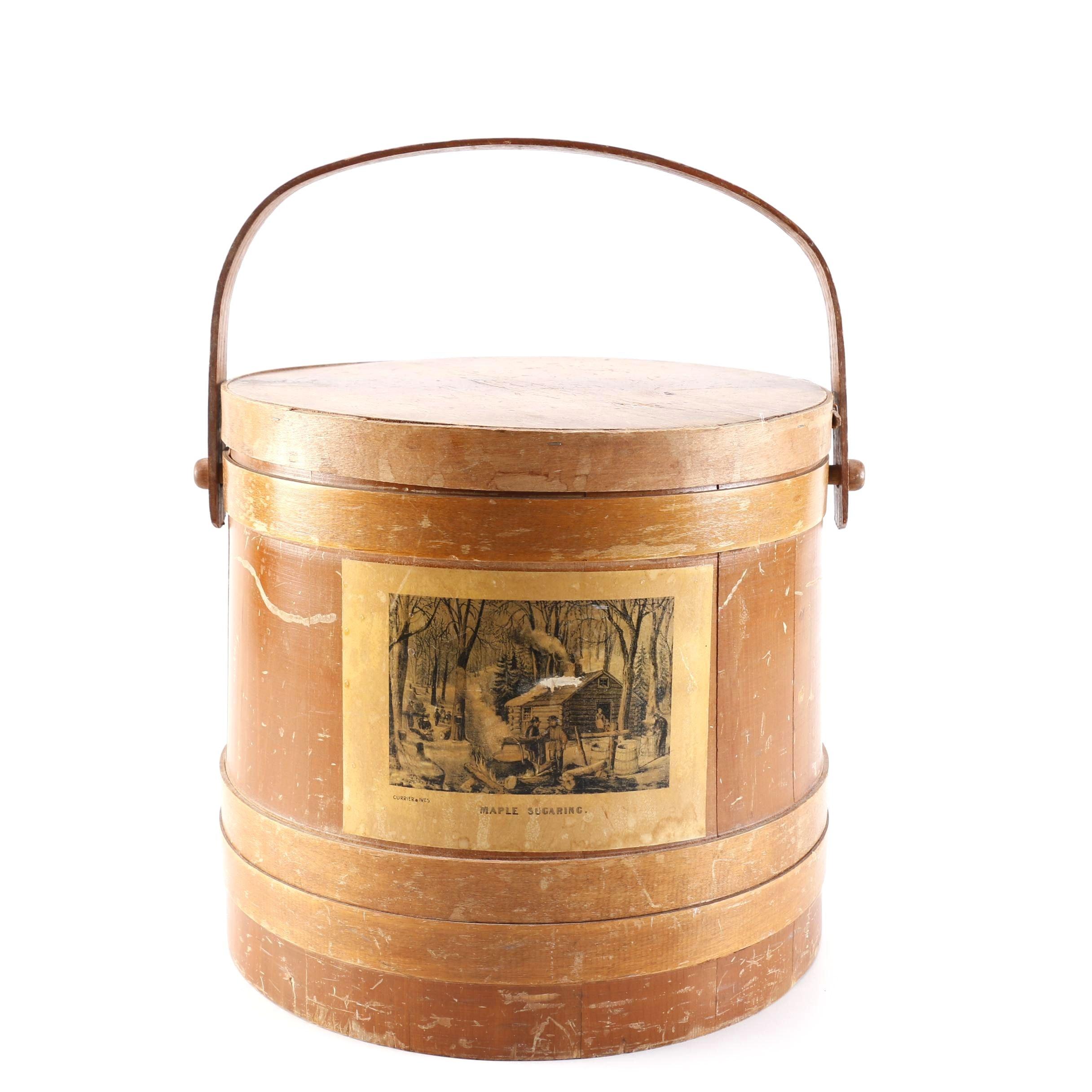 Vintage Bent Wood Shaker Sugar Firkin