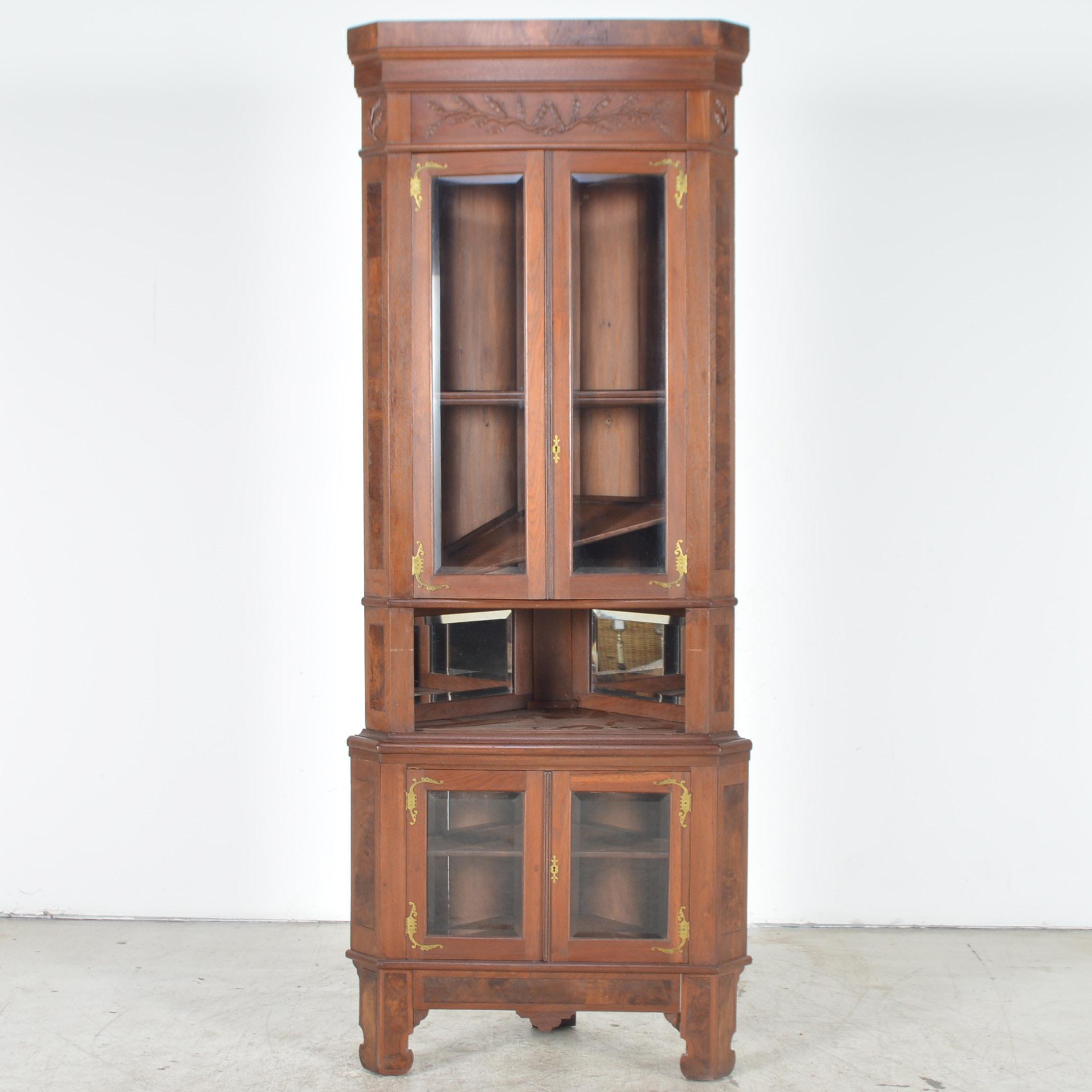 Antique Eastlake Corner Cabinet