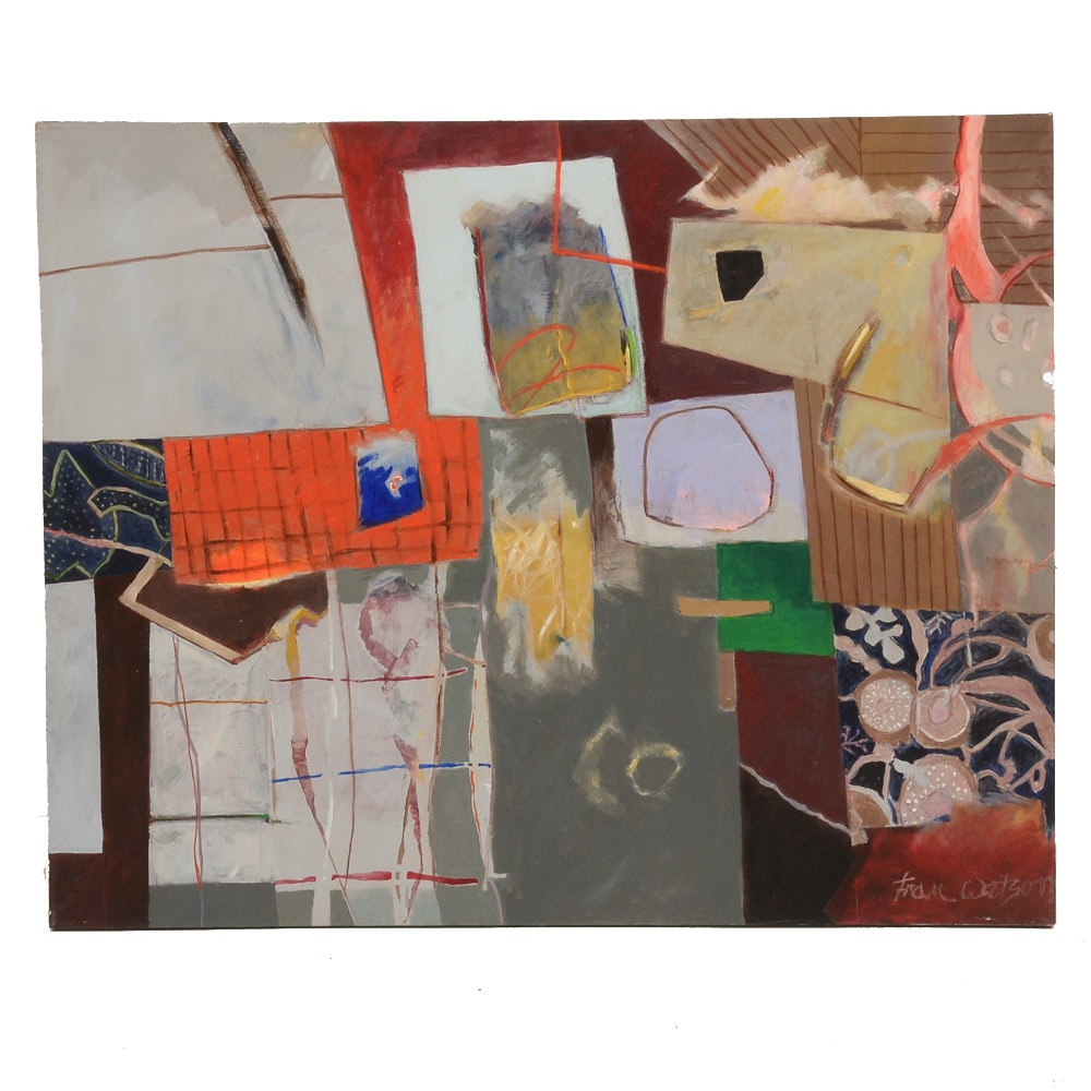 """Fran Watson Original Large-Scale Acrylic on Canvas """"Remnants"""""""
