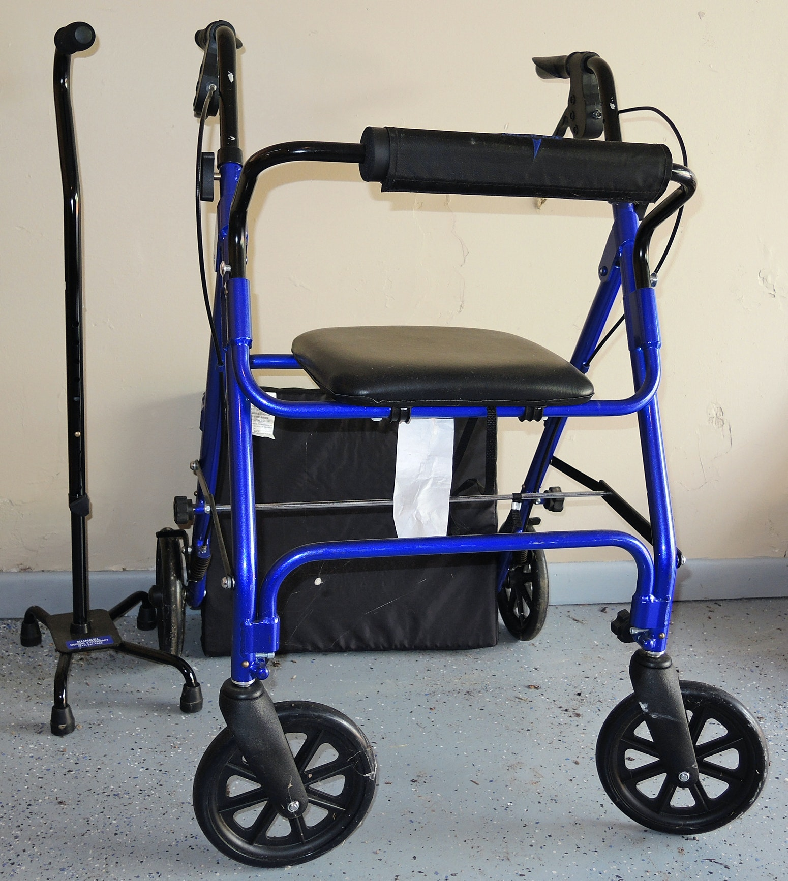 Rollator Rolling Walker with Seat and Cane