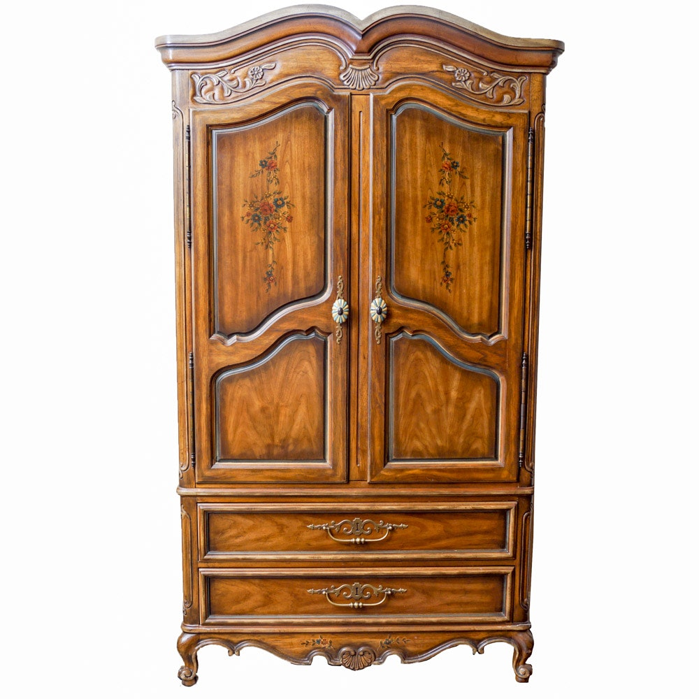 Provincial Louis XV Style Armoire by Heritage Furniture
