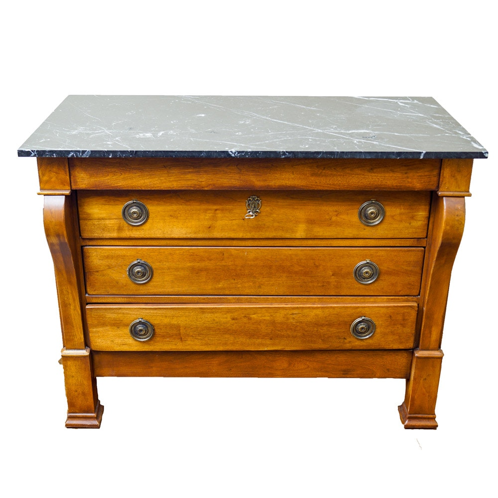 Louis Philippe Style Marble Top Commode