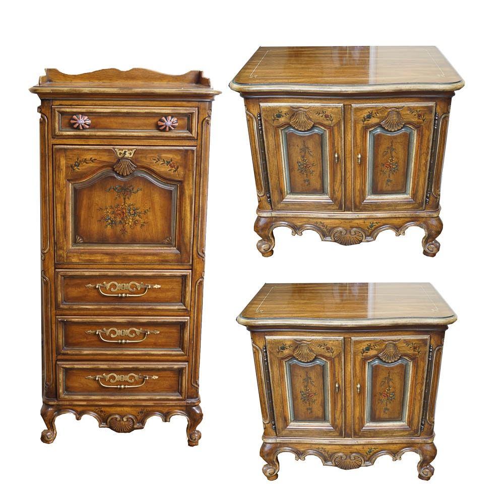Louis XV Style Side Tables and Secretary by Heritage Furniture