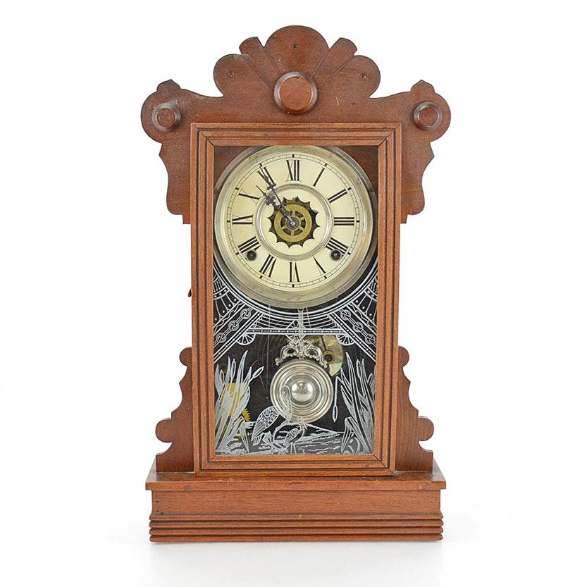 "Waterbury ""Easton"" Antique Gingerbread Shelf Clock"