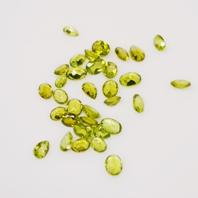 Thirty-Three Loose 33.35 CTW Natural Peridot Gemstones