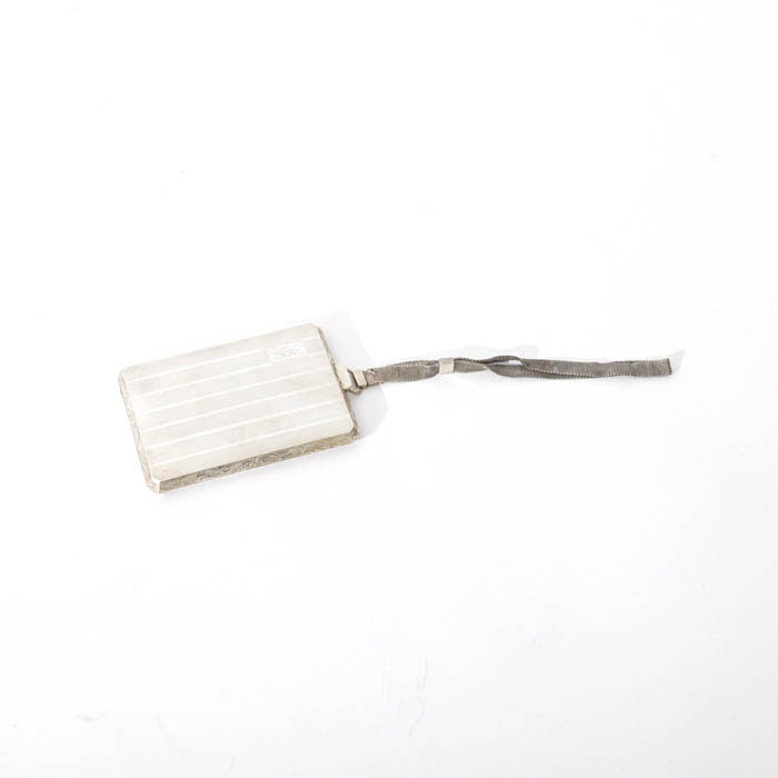 Antique Sterling Silver Embossed Chatelain Purse