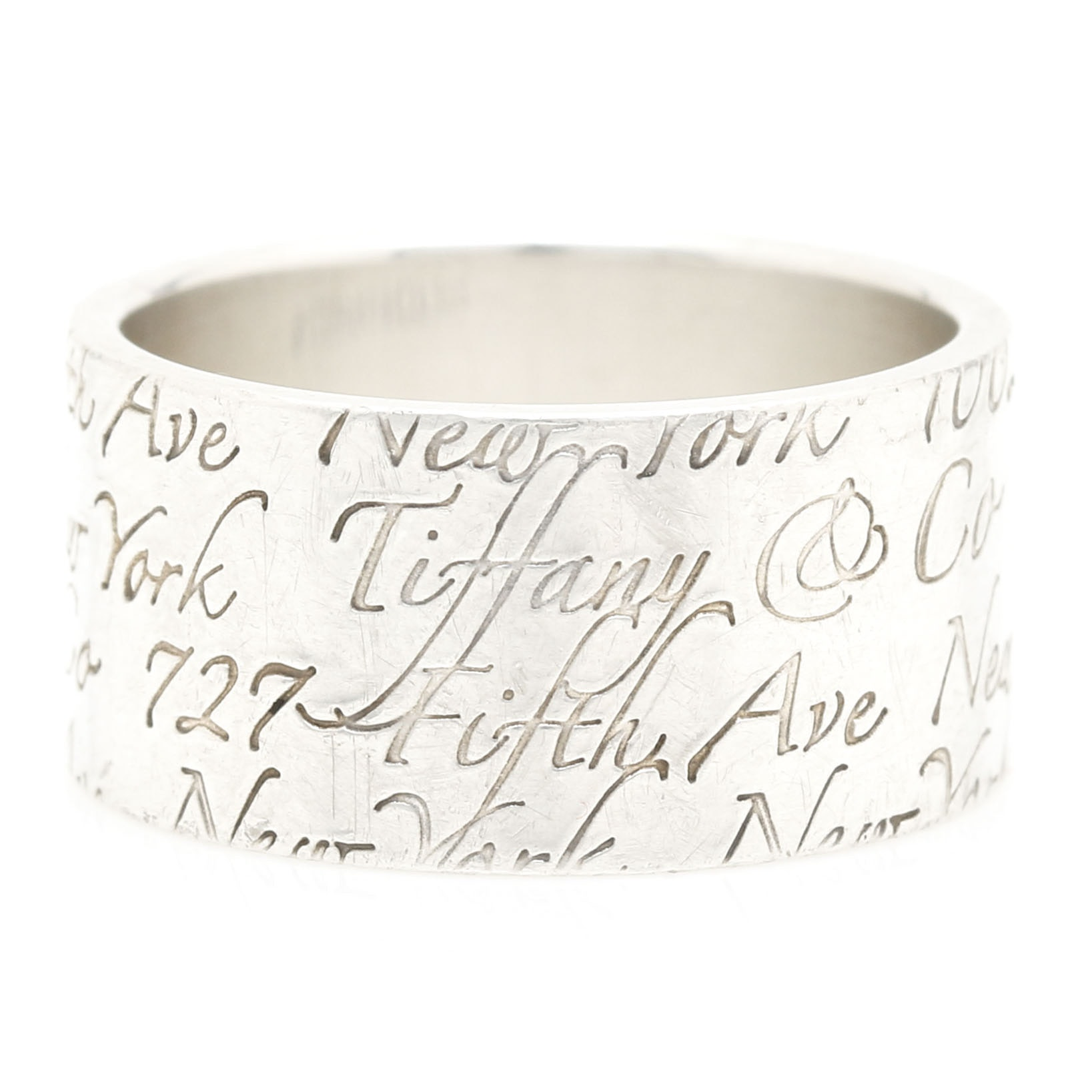 "Tiffany & Co. Sterling Silver ""Notes"" Ring"
