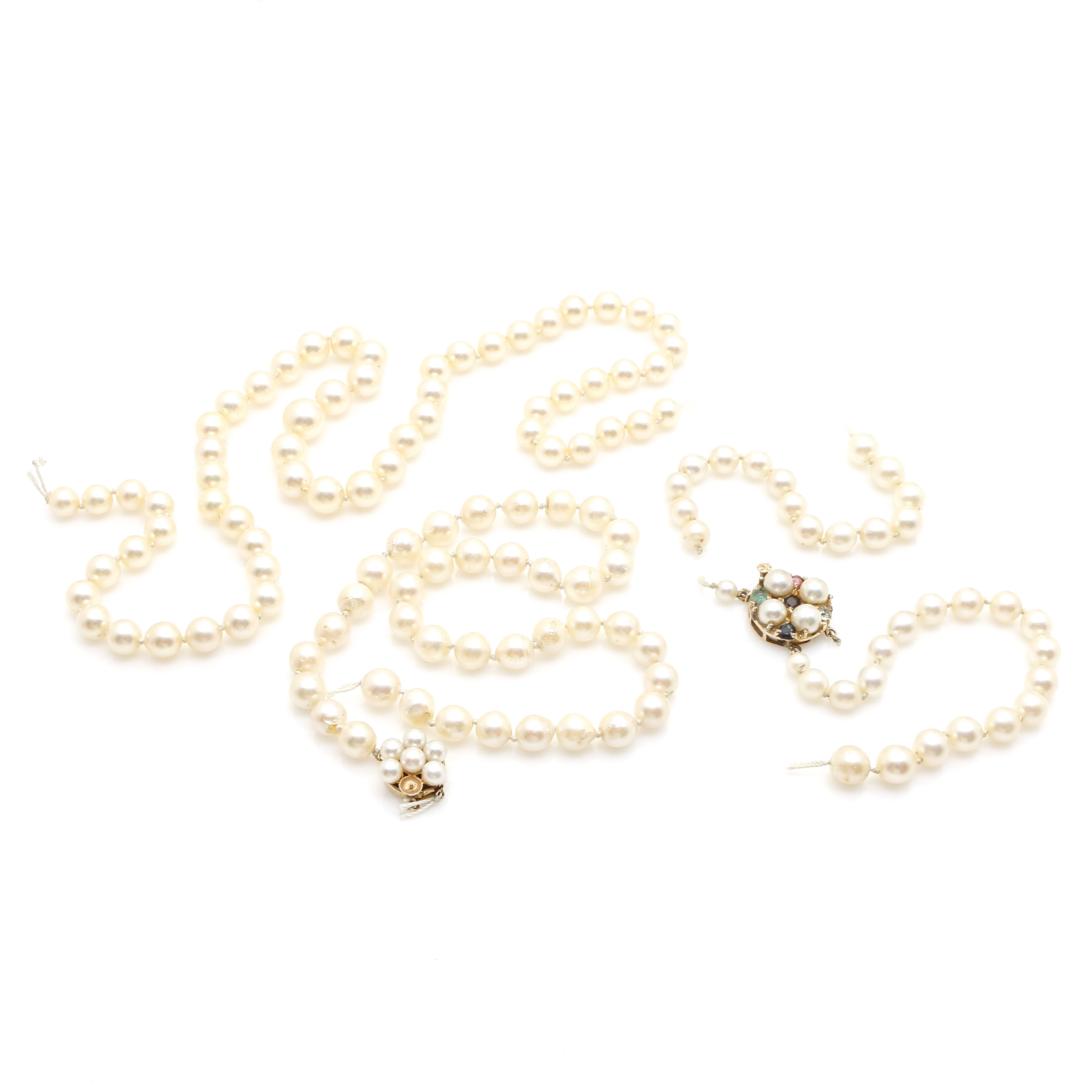 Pearl Strands with 14K Yellow Gold Findings