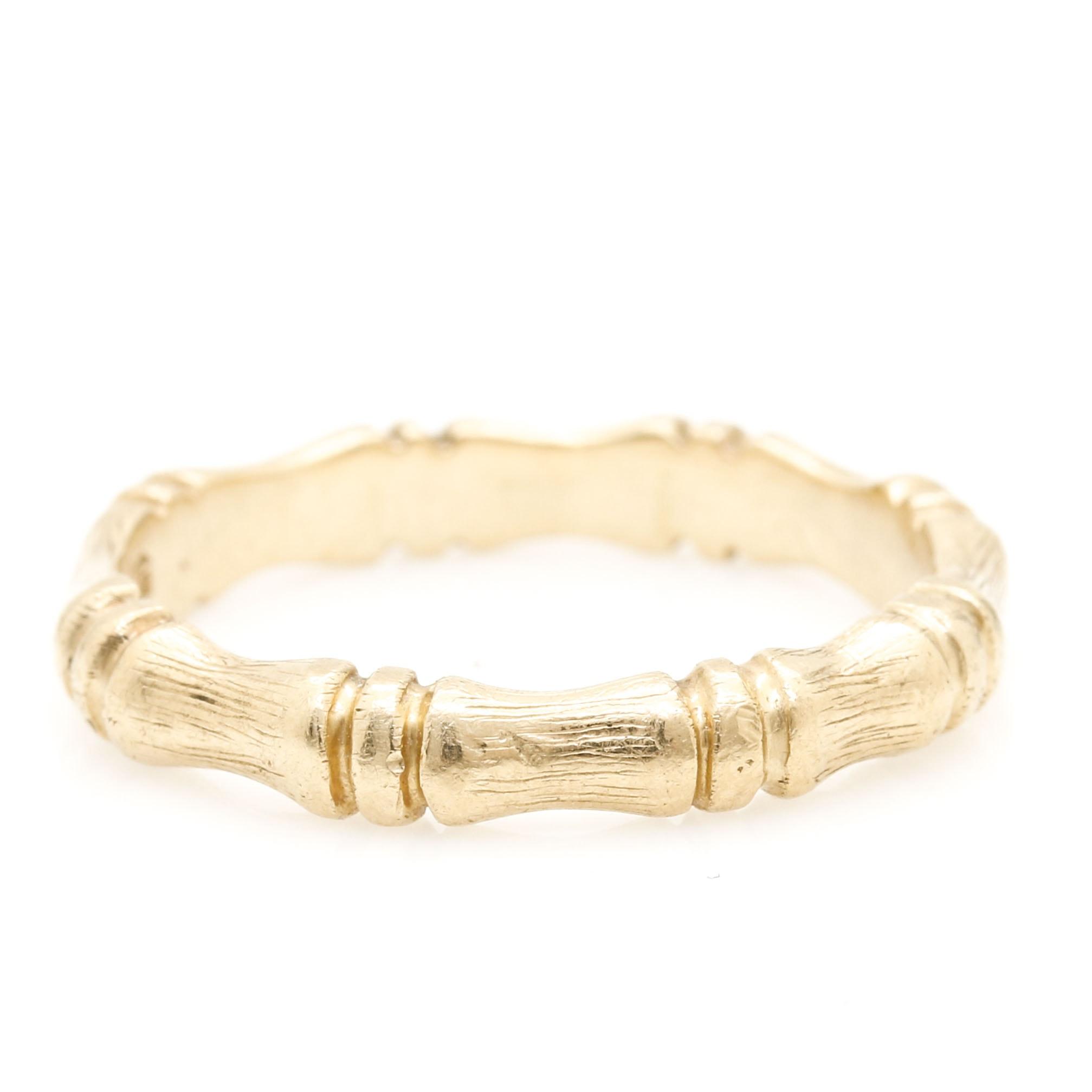 "14K Yellow Gold ""Bamboo"" Ring"