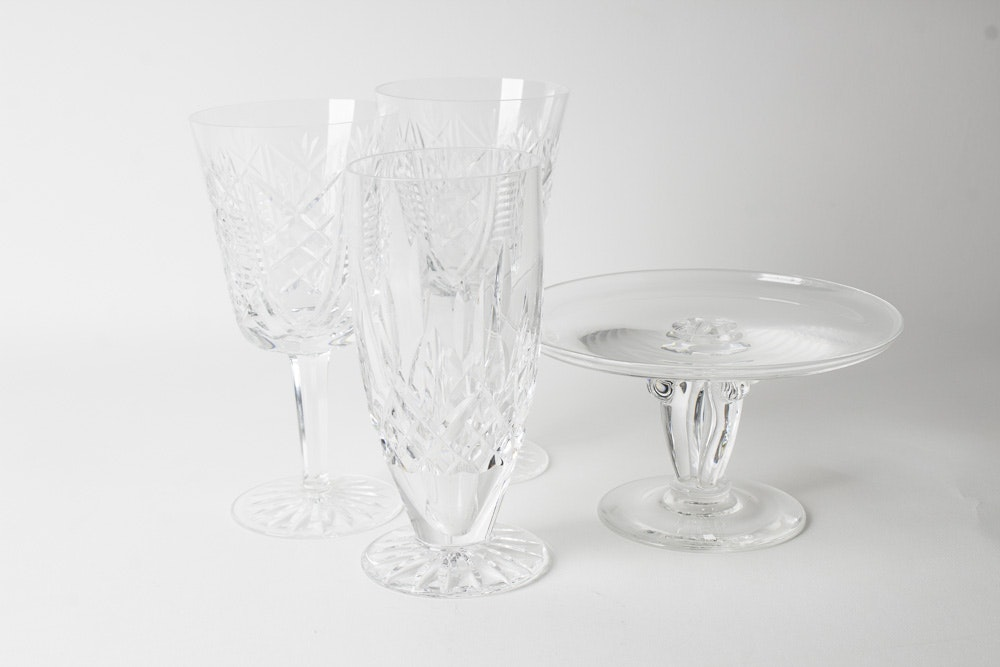 Waterford Crystal Glasses and Cake Stand