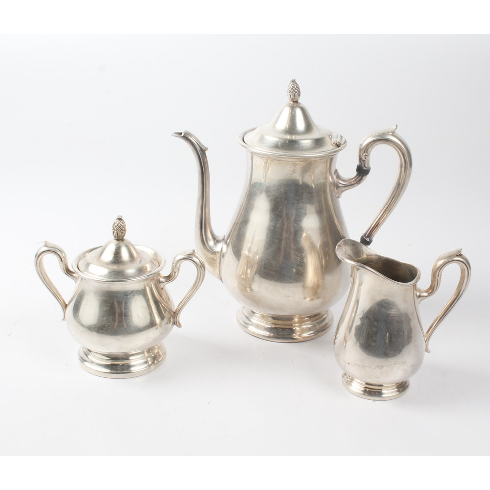 "Reed & Barton ""Jamestown"" Silver Plate Coffee Service"