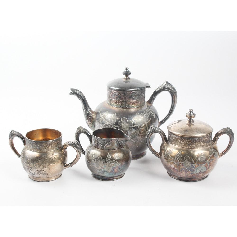 Hartford Silver Plate Co. Silver Plate Tea Service