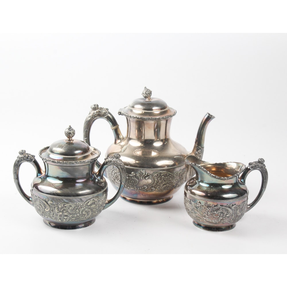 Middletown Plate Co. Silver Plate Tea Service