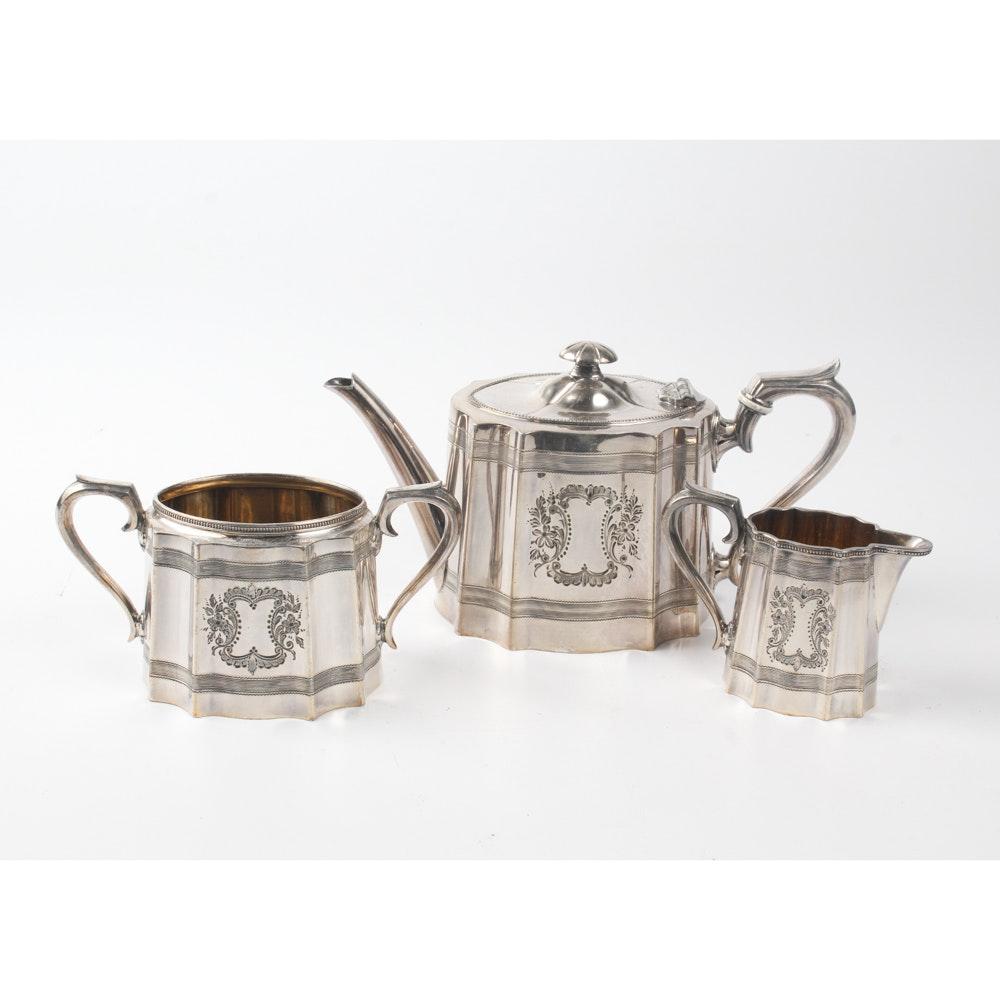 James Dixon & Sons English Silver Plate Tea Service