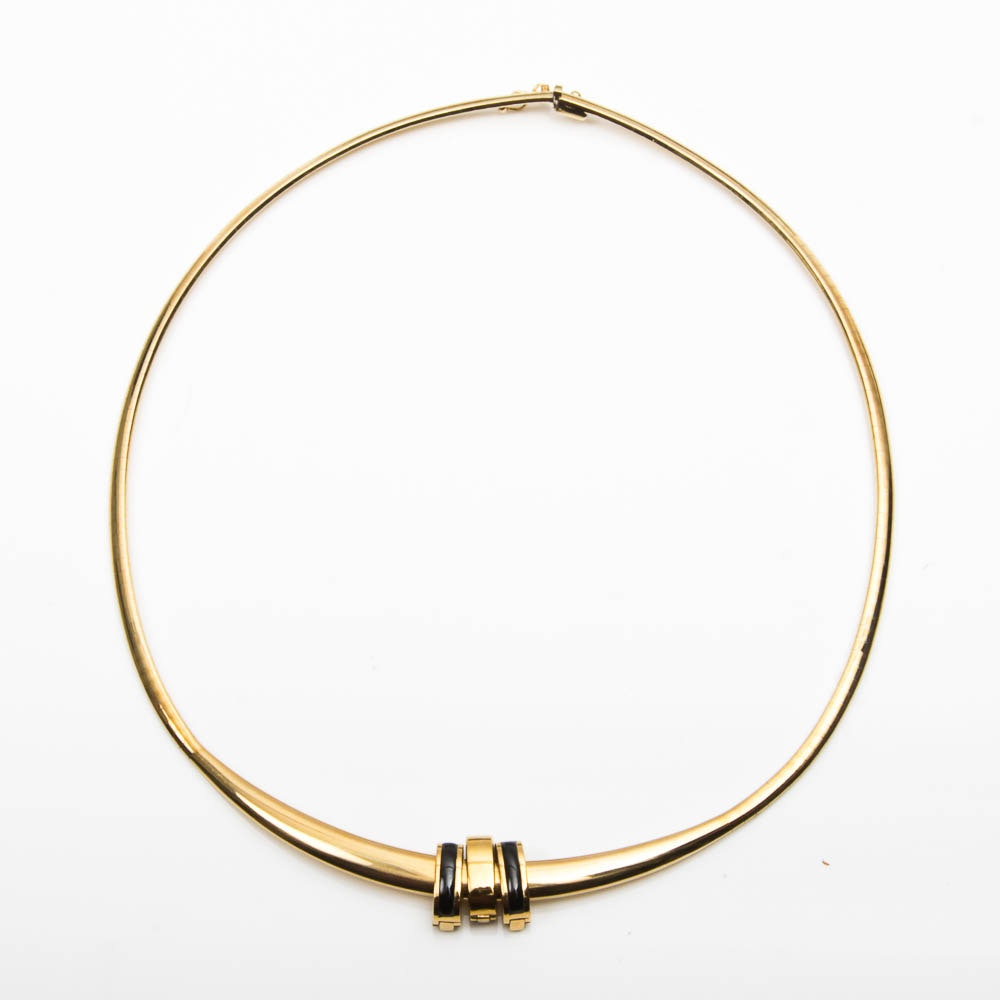 14K Gold Necklace with 18K Gold Slide Charms