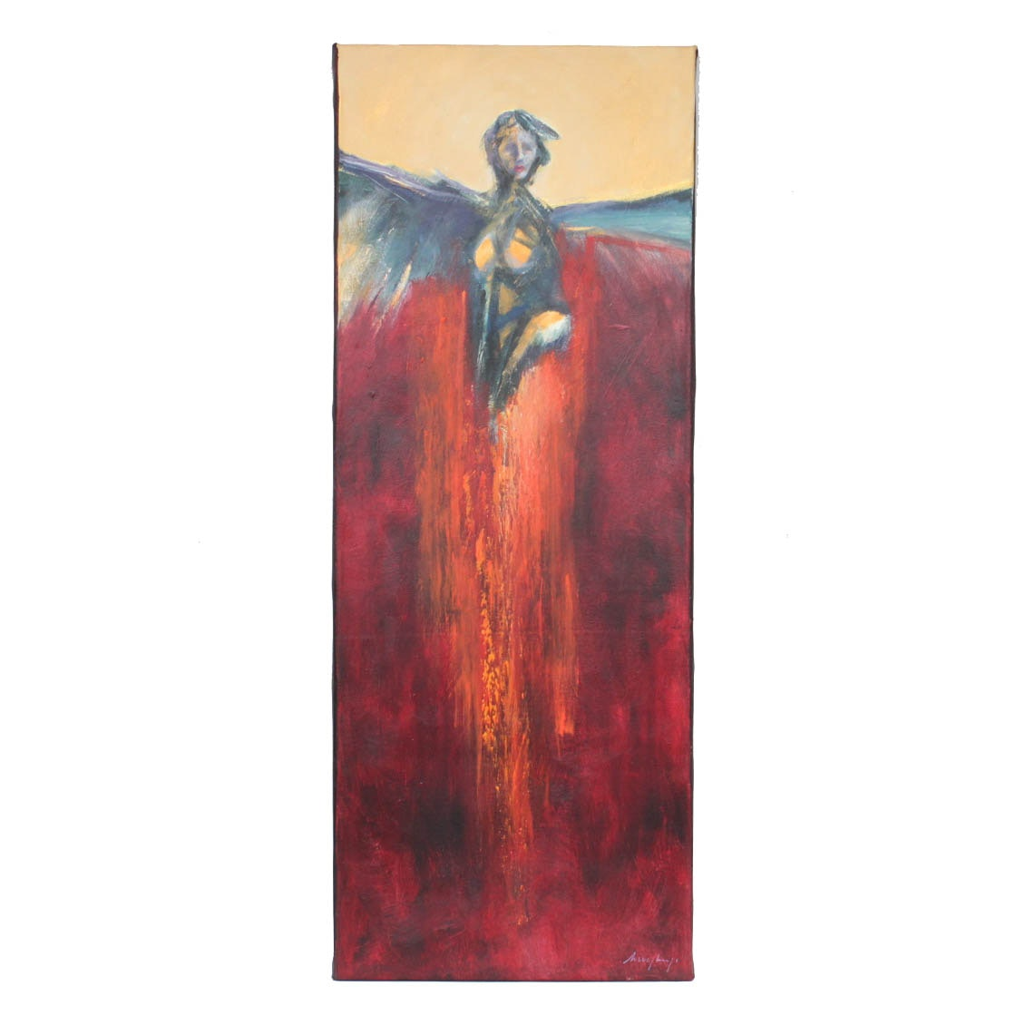 Kirk Hughey Oil Painting on Canvas of Angelic Figure