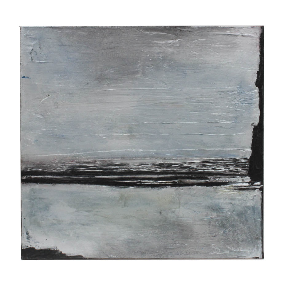 "Kirk Hughey Abstract Oil Painting on Canvas ""Breakaway"""