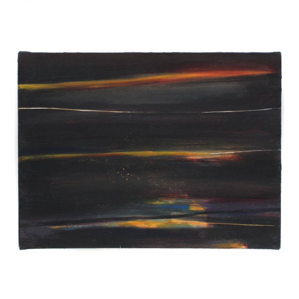 Kirk Hughey Attributed Abstract Oil Painting on Canvas