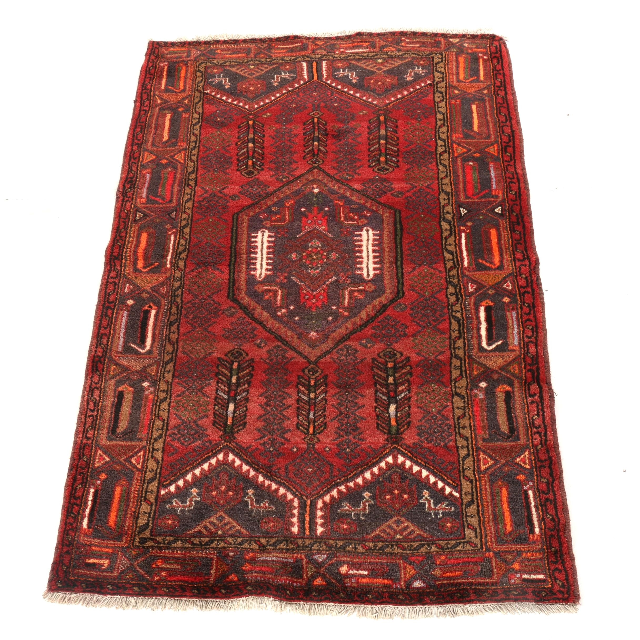 Hand-Knotted Caucasian Kazak Area Rug