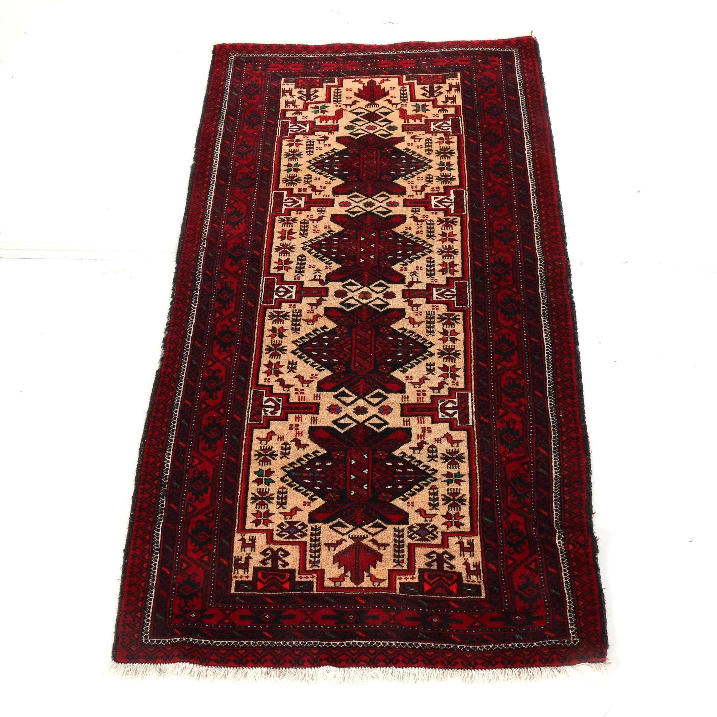 Hand-Knotted Northwest Persia Karaja Carpet Runner