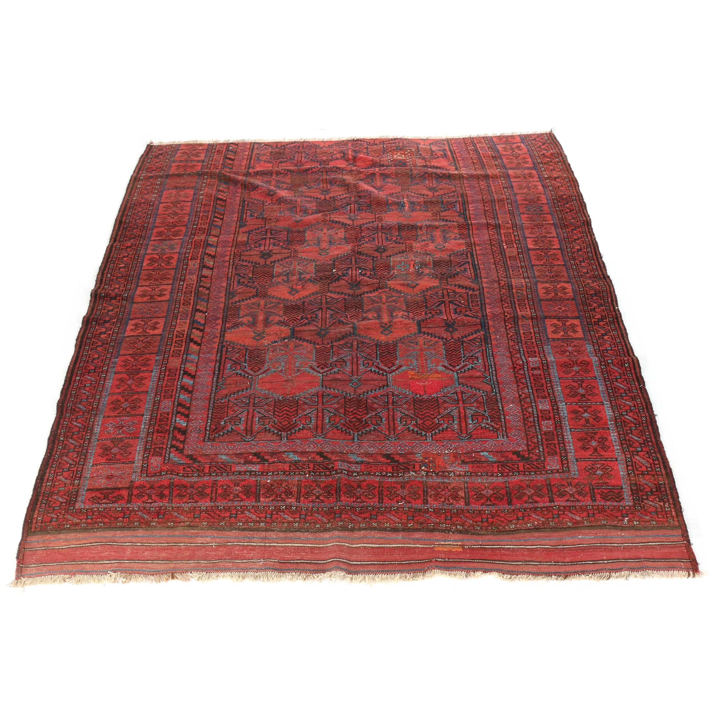 Handwoven Geometric Tapestry
