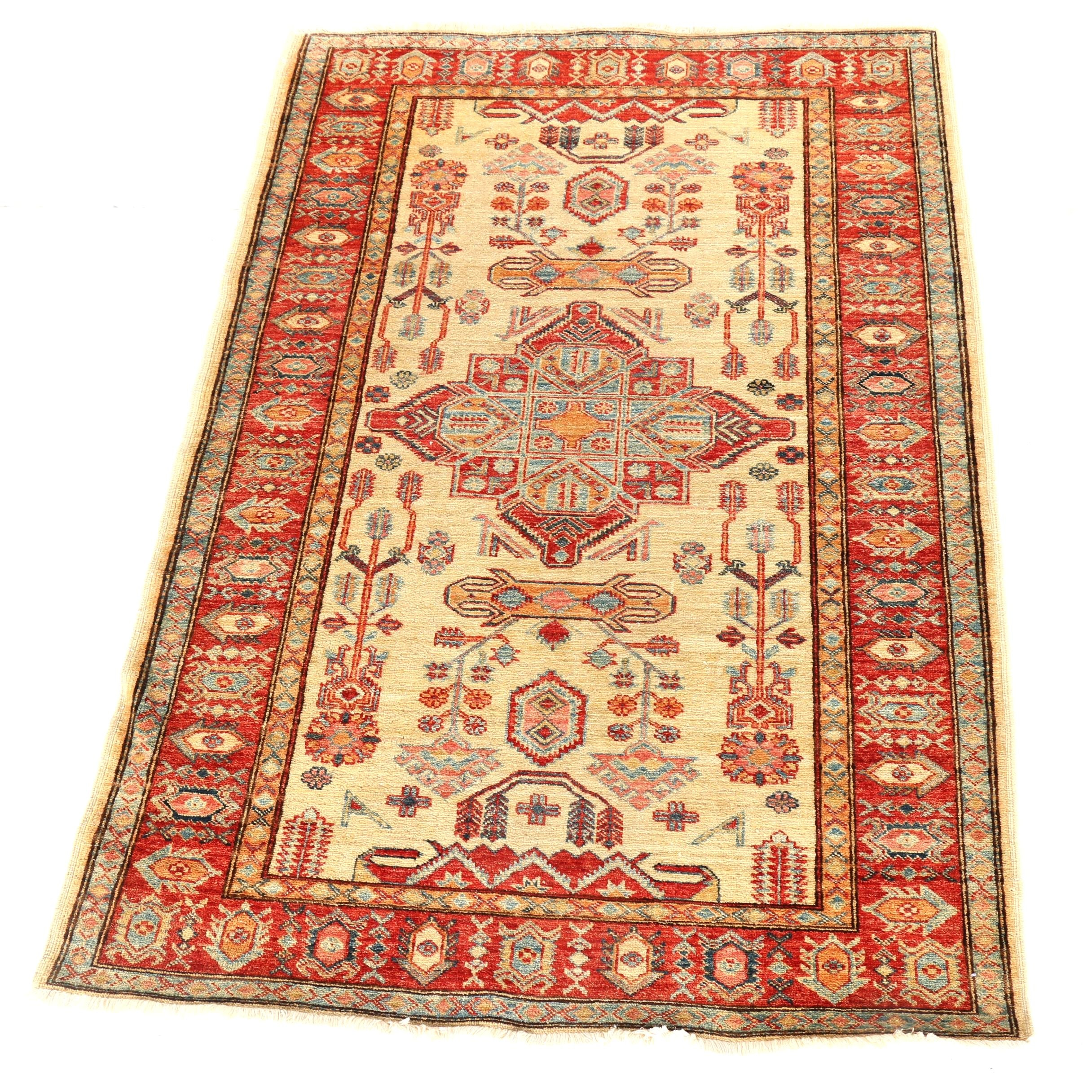 Hand-Knotted Persian Inspired Accent Rug