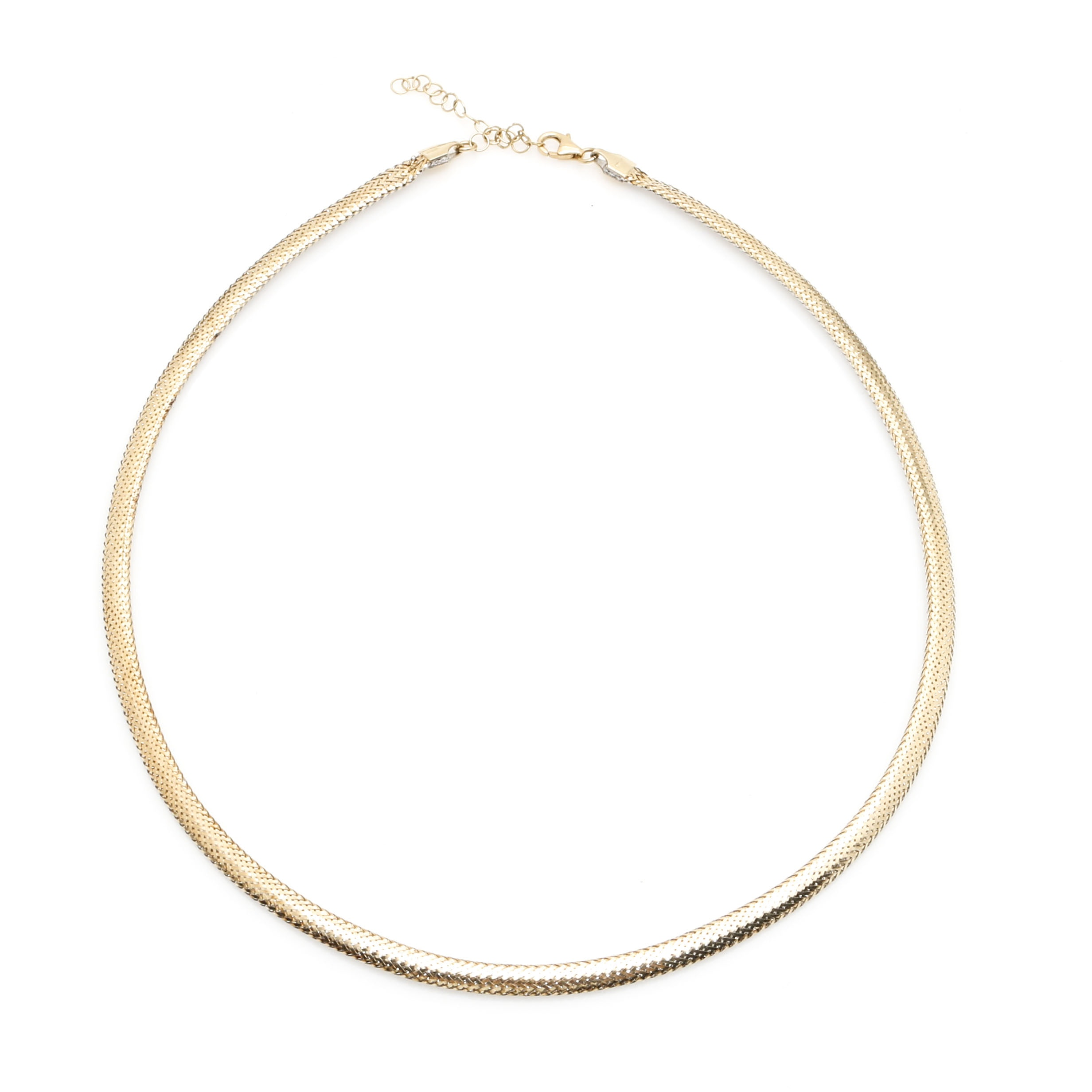 14K Yellow and White Gold Reversible Omega Necklace