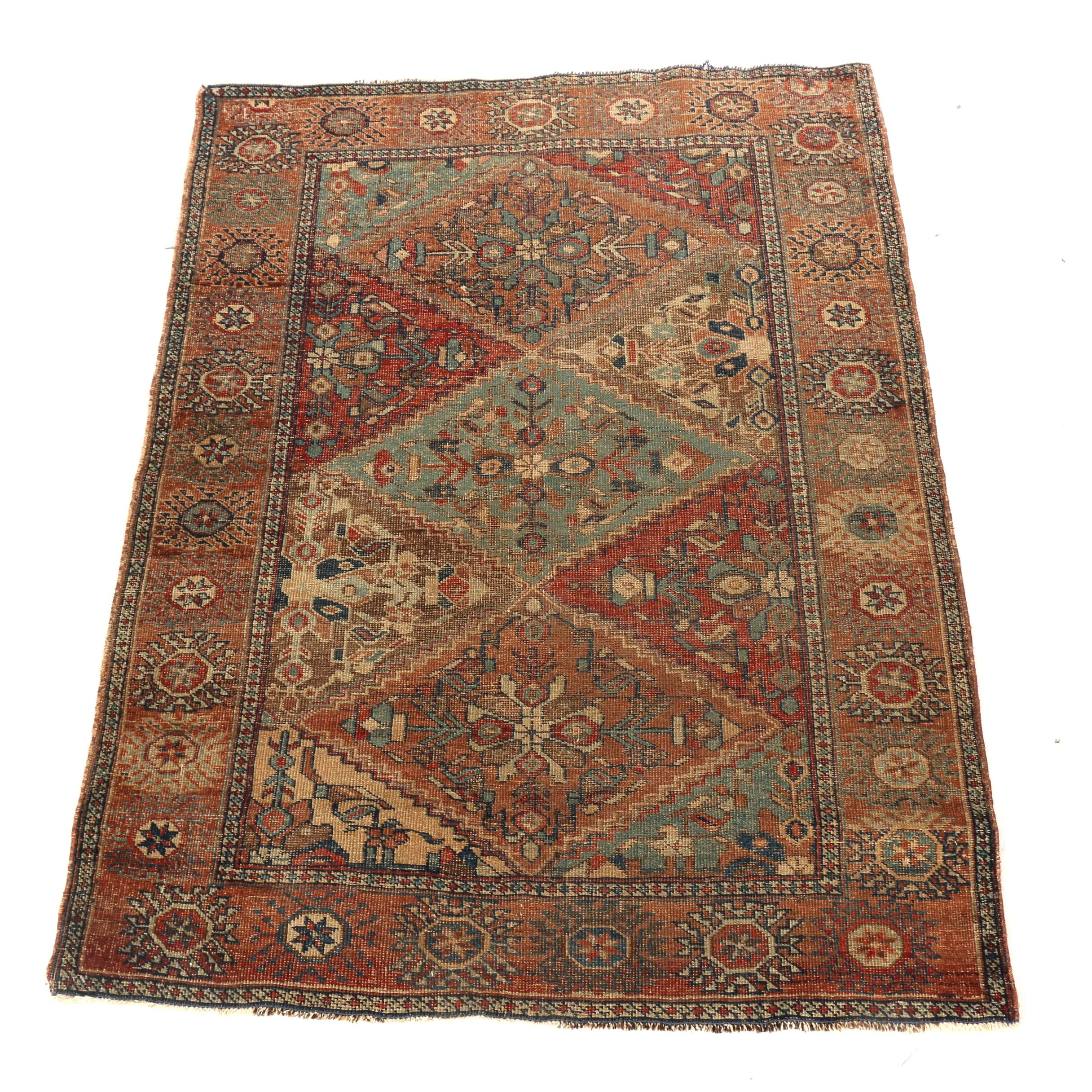 Hand-Knotted Turkish Yuruk Styled Accent Rug
