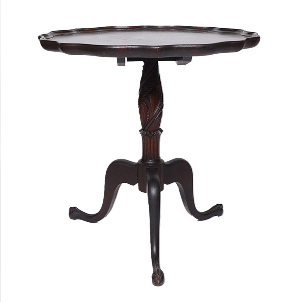 Early 20th C. Chippendale Style Tea Table