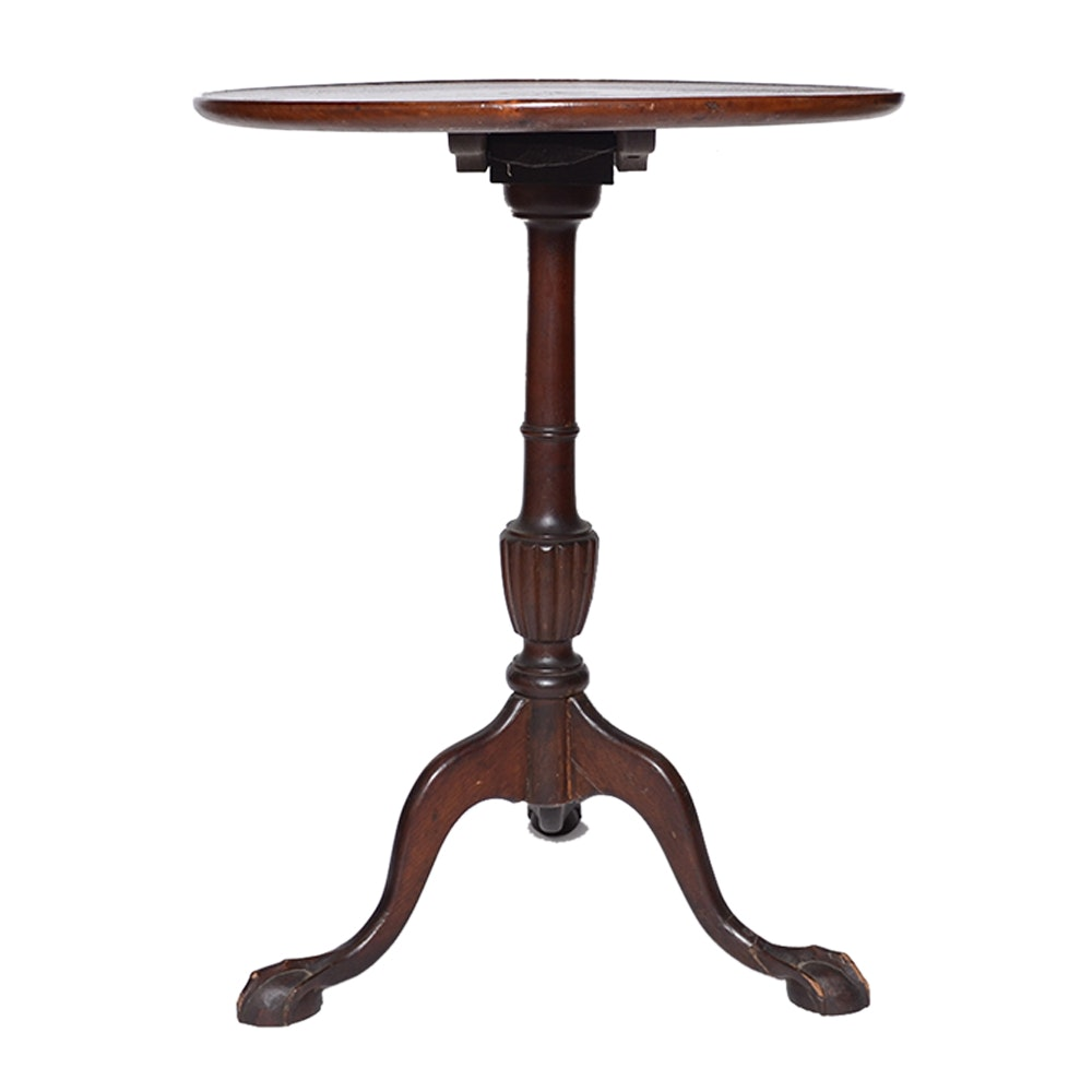 Vintage Queen Anne Style Cherry Pedestal Table