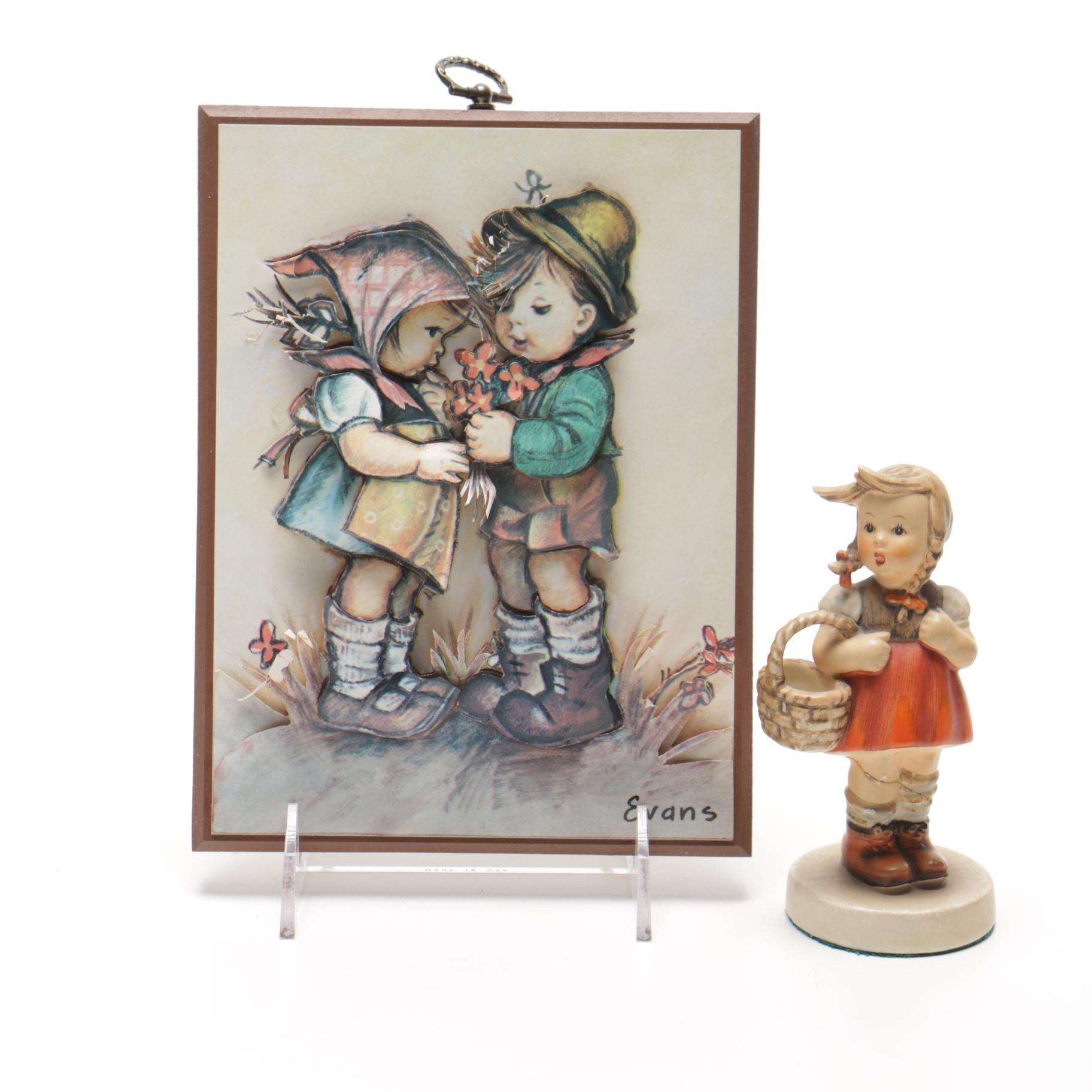 Hummel Figurine and Portrait