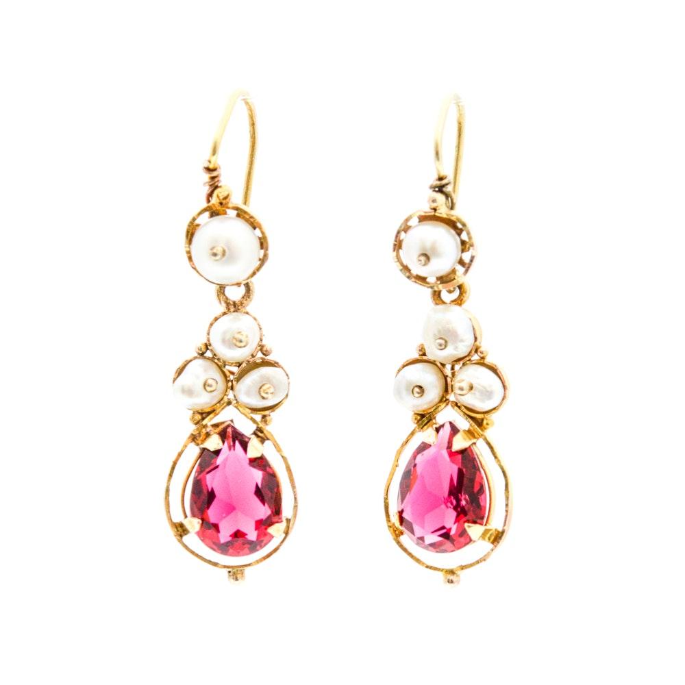 10K Yellow Gold Gemstone Earrings