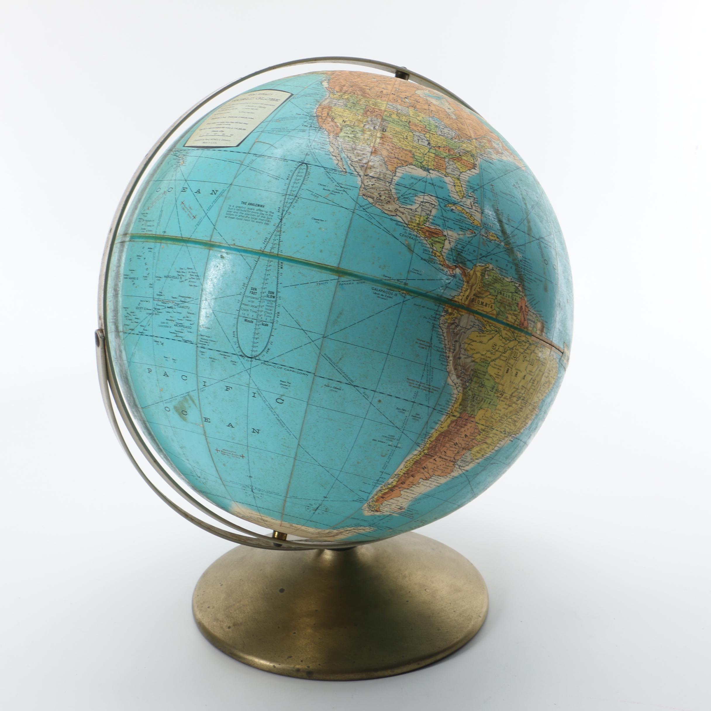 Rand McNally World Globe
